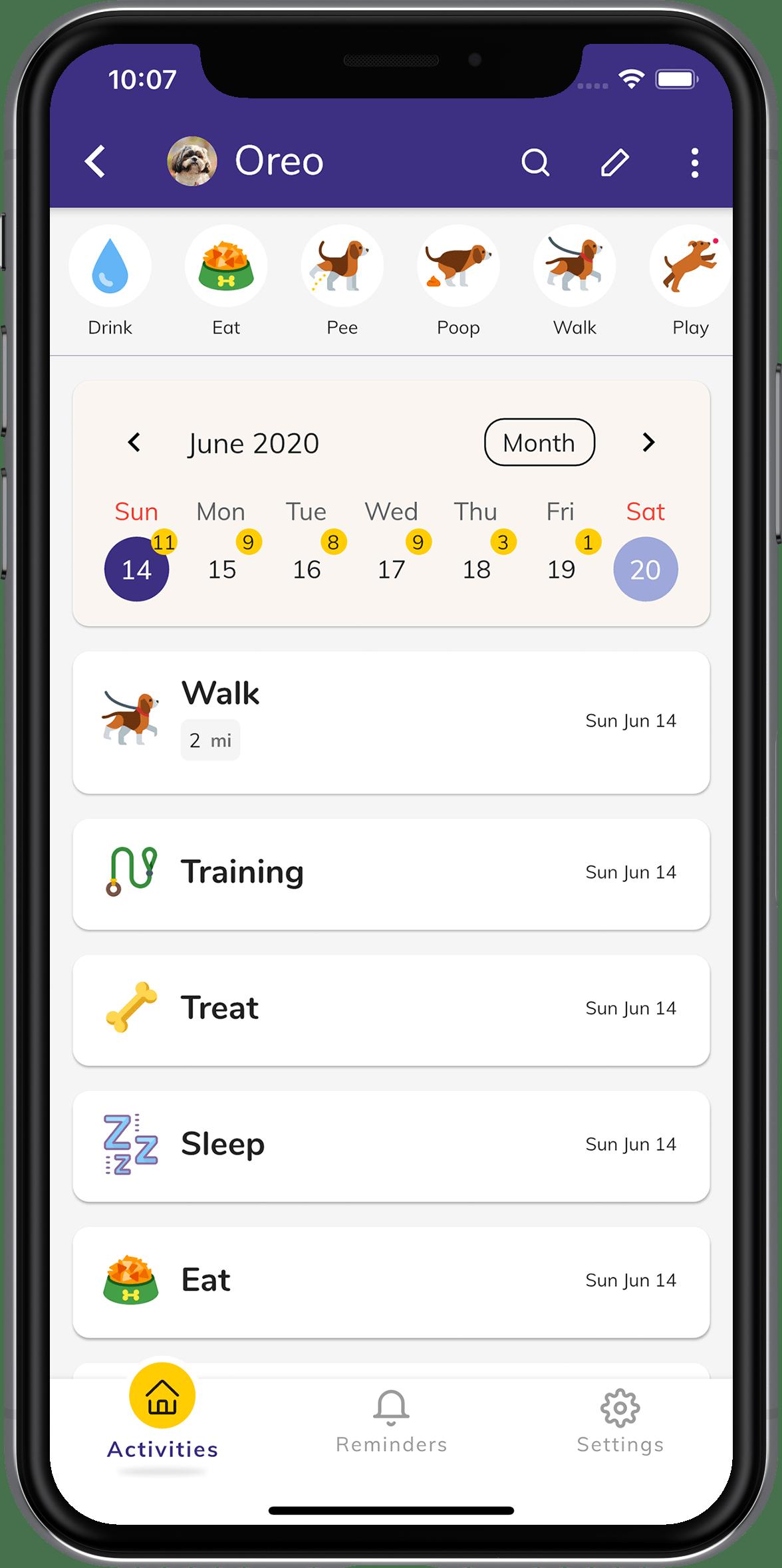 Track Activities